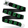 Green Lantern Logo CLOSE-UP Black Green Seatbelt Belt - Green Lantern Logo Black/Green Webbing