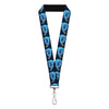 "Lanyard - 1.0"" - Aladdin 2019 Magic Lamp Genie WISHED GRANTED Pose Blues Golds"