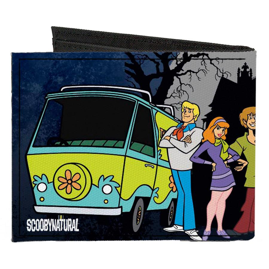 Canvas Bi-Fold Wallet - SCOOBYNATURAL Scooby Doo Supernatural 8-Character Group Pose2
