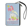 Canvas Zipper Wallet - LARGE - THE LITTLE MERMAID Flounder and Ariel Pose Blue