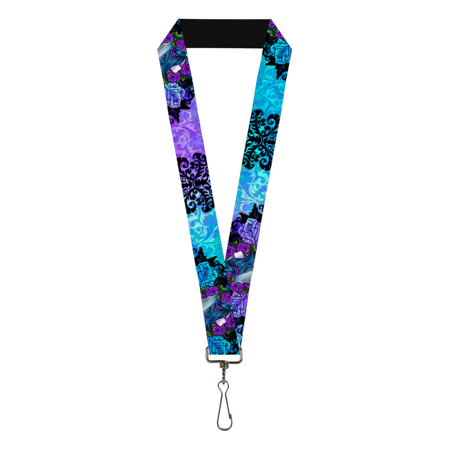 "Lanyard - 1.0"" - Tattoo Johnny-Fairy Blue Hair"
