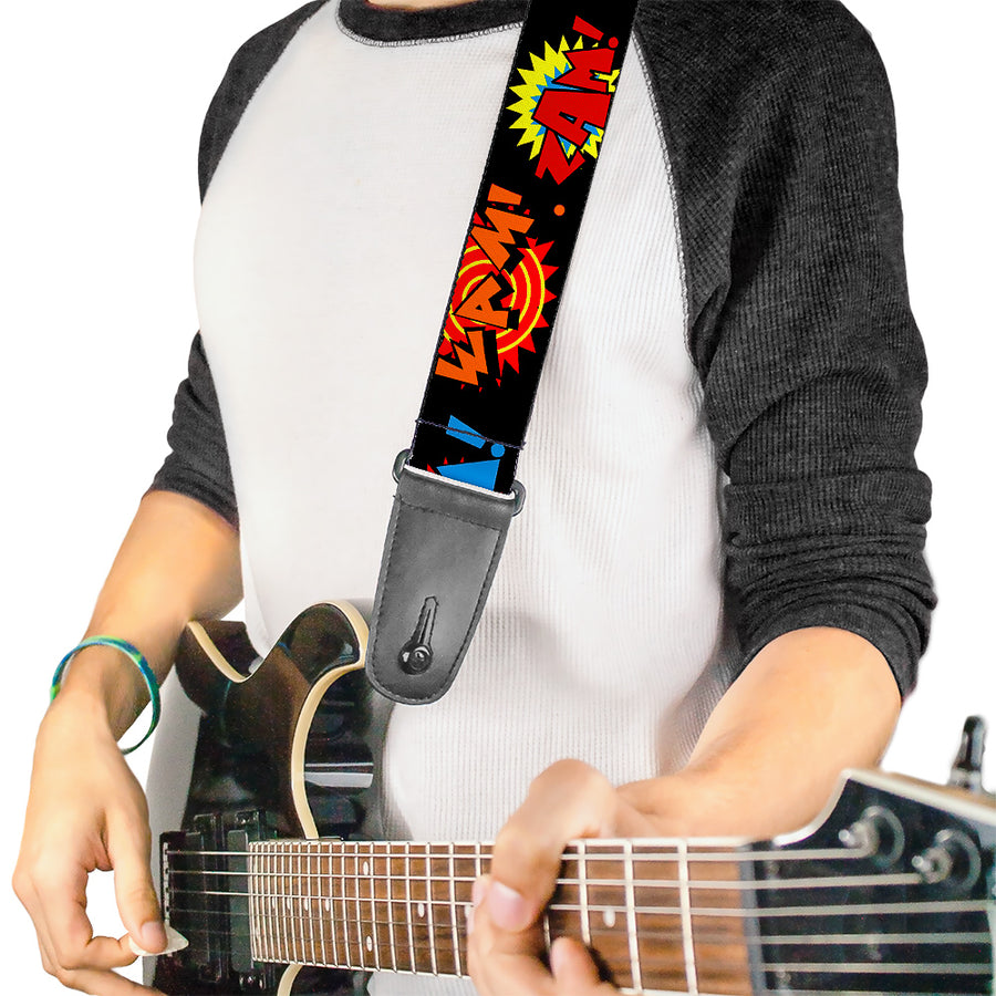 Guitar Strap - Sound Effects Black Multi Color