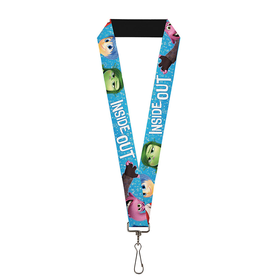"Lanyard - 1.0"" - INSIDE OUT 6-Character Pose Sparkle Blue White"