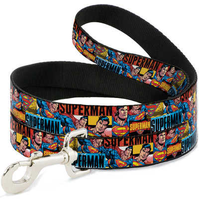 Dog Leash - SUPERMAN Action Blocks Red/Blue