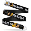 Simba2 CLOSE-UP Full Color Seatbelt Belt - Lion King Simba & Nala HAKUNA MATATA Webbing