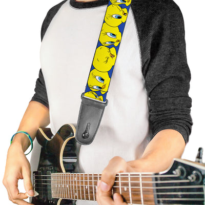 Guitar Strap - Tweety Bird CLOSE-UP Expressions Royal Blue