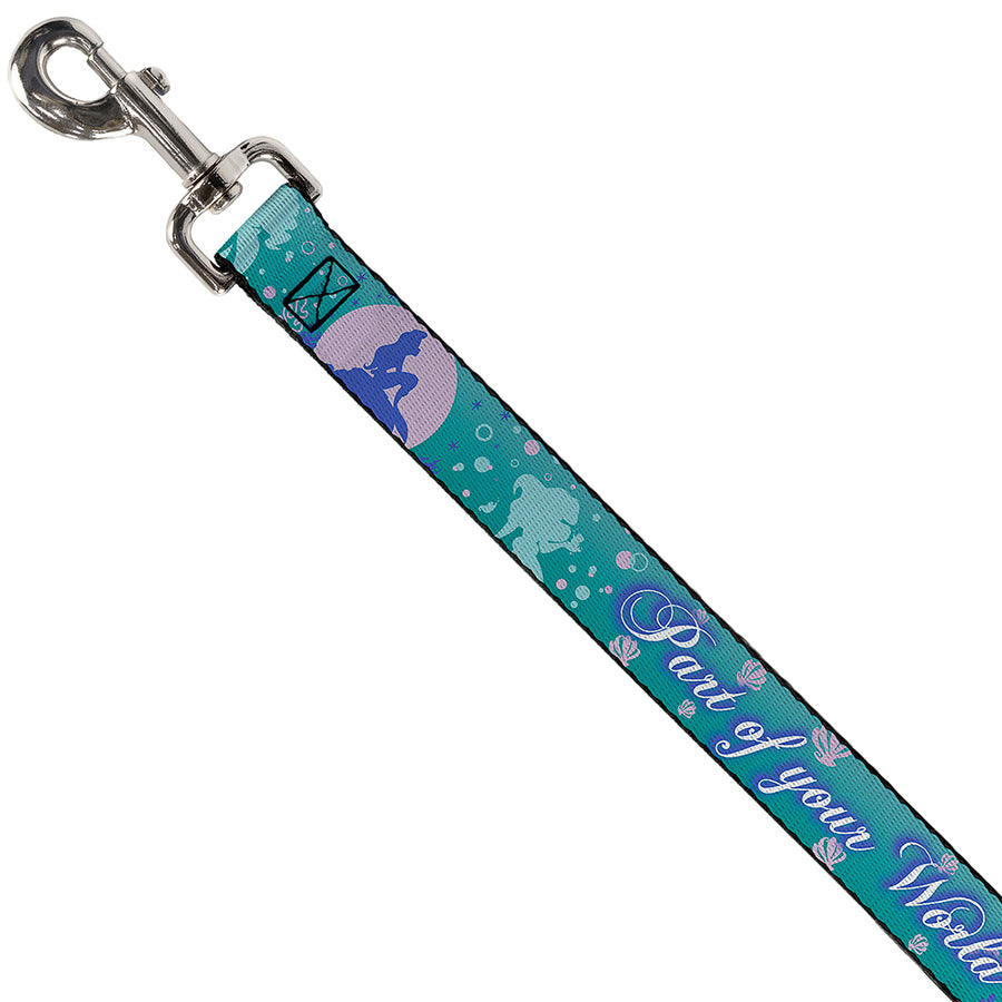 Dog Leash - Little Mermaid Silhouette Scenes PART OF YOUR WORLD Blues