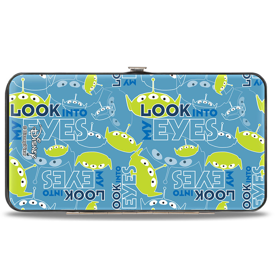 Hinged Wallet - Toy Story Alien Pose LOOK INTO MY EYES Icons Blues Greens
