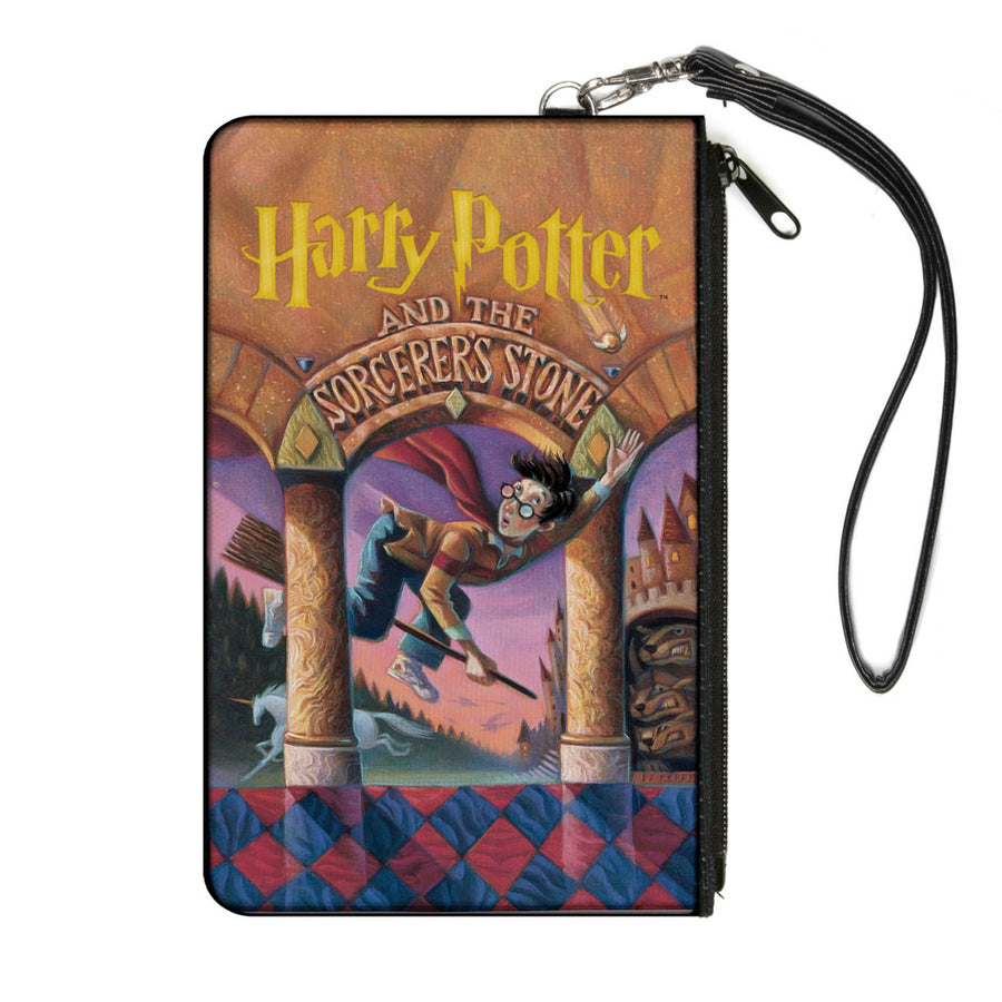 Canvas Zipper Wallet - LARGE - Harry Potter and the Sorcerer's Stone Book Cover Drawing
