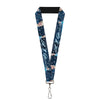 "Lanyard - 1.0"" - Elsa the Snow Queen Poses Snowflakes LET IT GO Blues White"