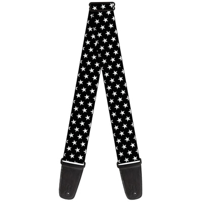 Guitar Strap - Mini Stars3 Black White