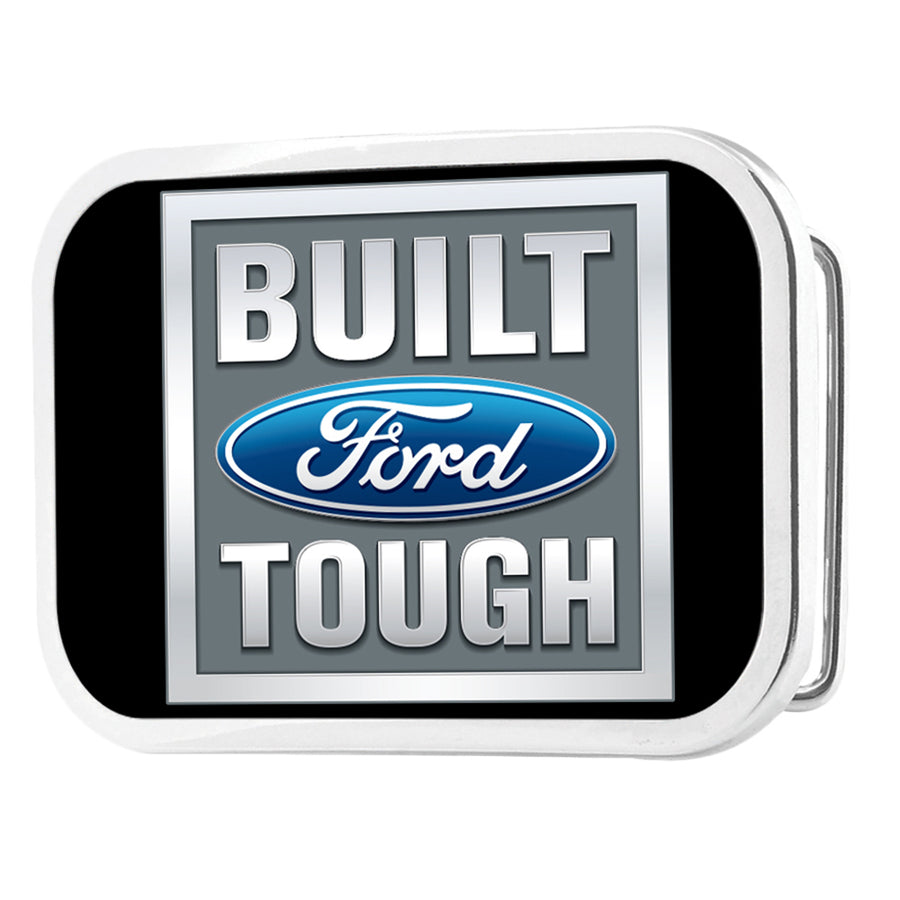 Built Ford Tough FCG Black Gray Blue - Chrome Rock Star Buckle