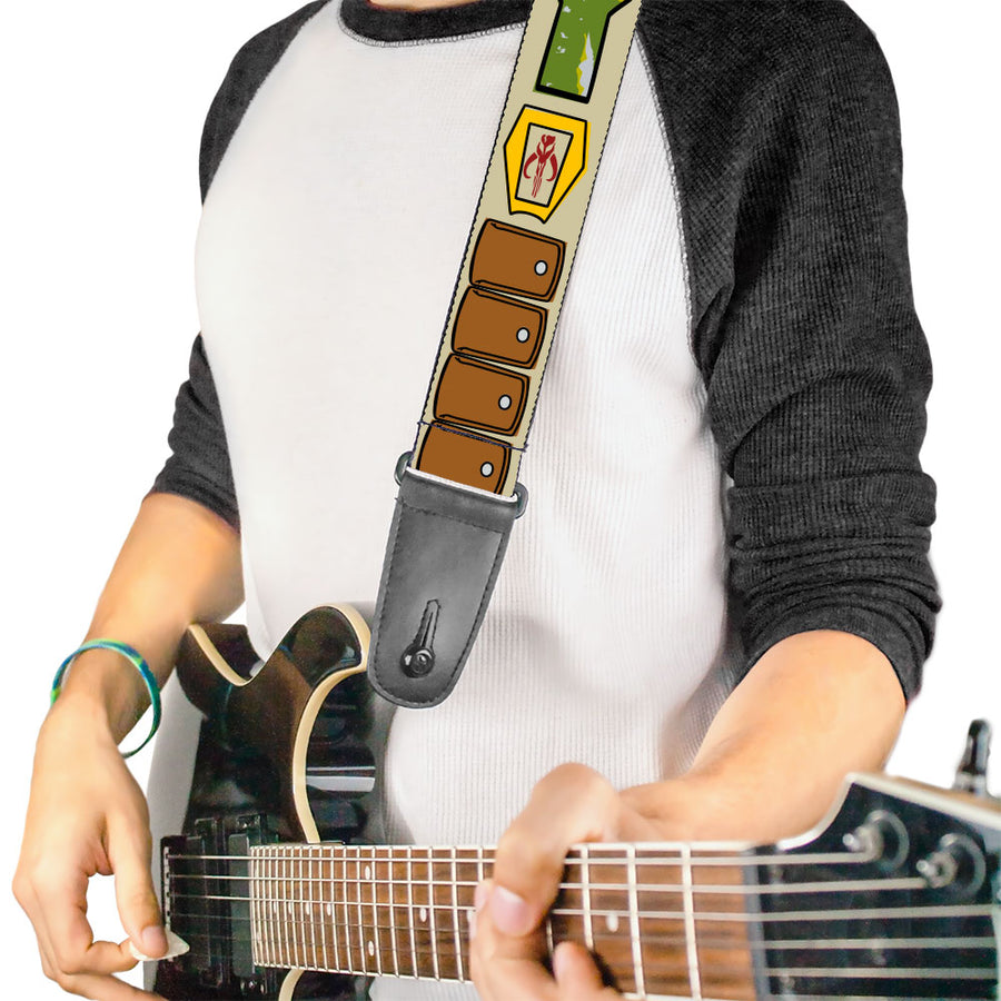 Guitar Strap - Star Wars Boba Fett Utility Belt Bounding Tan