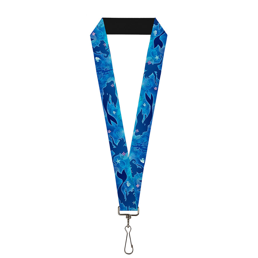 "Lanyard - 1.0"" - Ariel Silhouette Poses Castle Blues"