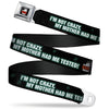 THE BIG BANG THEORY Full Color Black White Red Seatbelt Belt - BBT Logo I'M NOT CRAZY, MY MOTHER HAD ME TESTED! Webbing