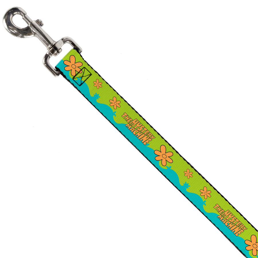 Dog Leash - Scooby Doo THE MYSTERY MACHINE Paint Job Green/Aqua/Orange