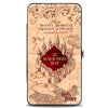 Hinged Wallet - Hogwarts School THE MARAUDER'S MAP Tan Reds
