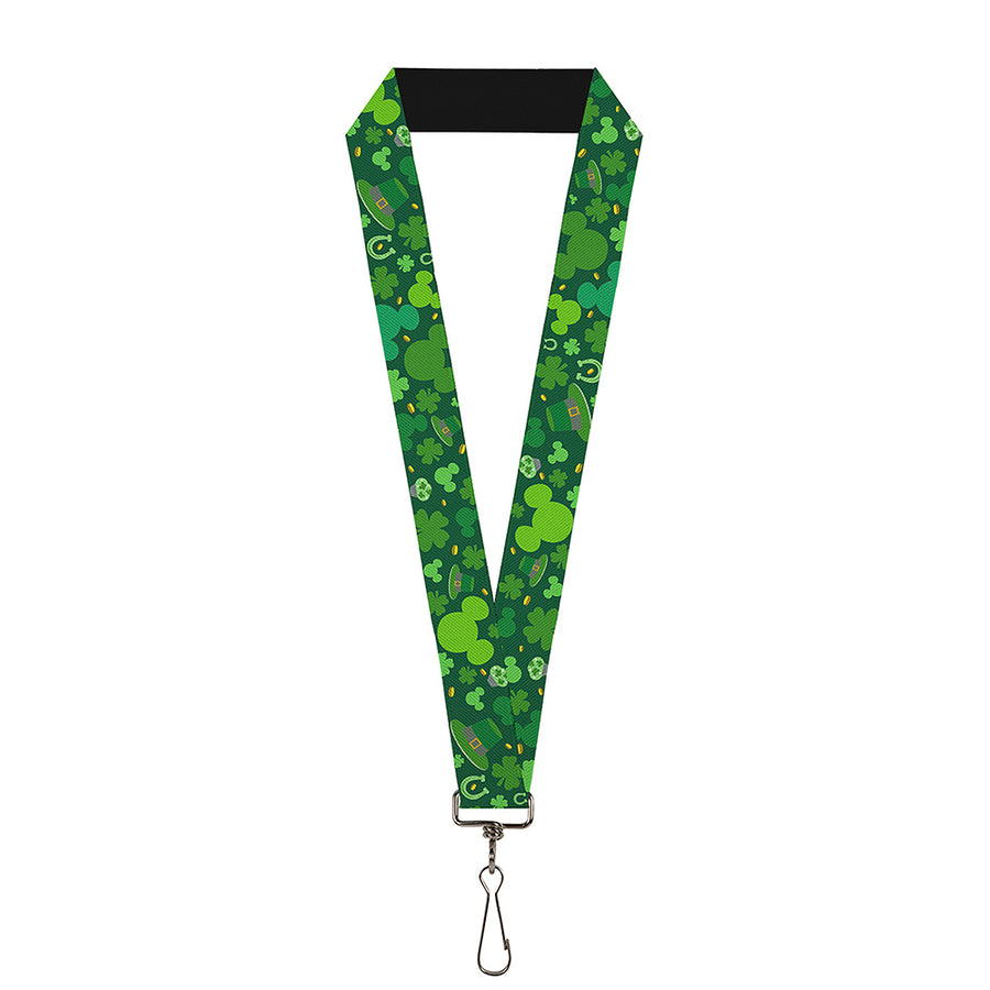 "Lanyard - 1.0"" - St Patrick's Day Mickey Collage Greens"