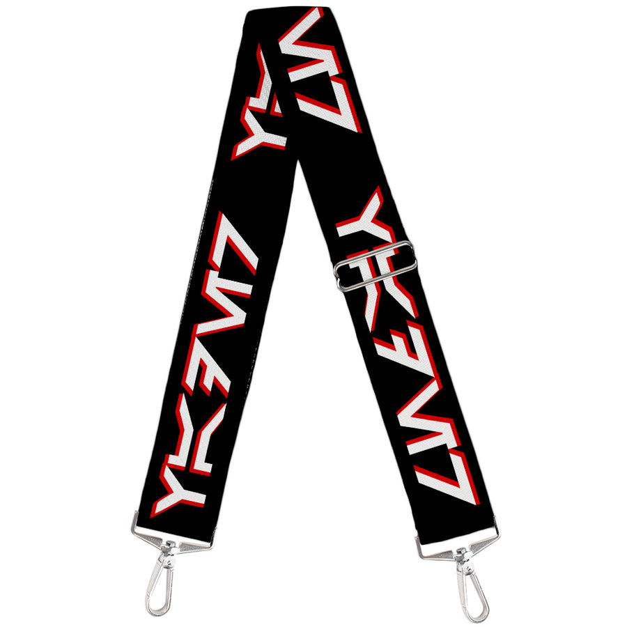 Purse Strap - Star Wars Aurebesh VADER Black Red White