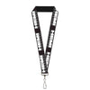 "Lanyard - 1.0"" - HEMI POWERED Logo Black Gray White"