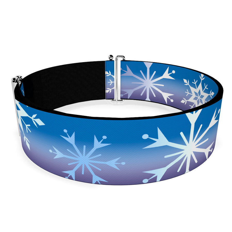 Cinch Waist Belt - Frozen II Snowflakes Blues Purples White