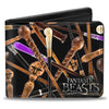 Bi-Fold Wallet - Fantastic Beasts and Where to Find Them Wands Scattered