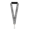 "Lanyard - 1.0"" - Batman Utility Belt Grays"