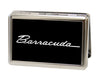 Business Card Holder - LARGE - BARRACUDA Script Logo FCG Black Silver