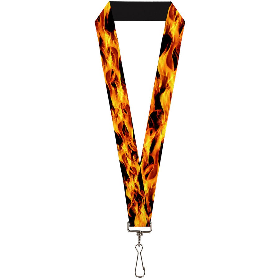 "Lanyard - 1.0"" - Flames Vivid Black Orange"