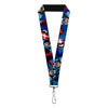"MARVEL AVENGERS Lanyard - 1.0"" - Marvel Avengers Captain America Action1 Blue"