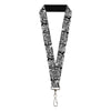 "Lanyard - 1.0"" - Catwoman Huntress Hush Battle Scene Comic Panels Grays Black"