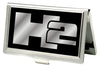 Business Card Holder - SMALL - H2 FCG Black Silver