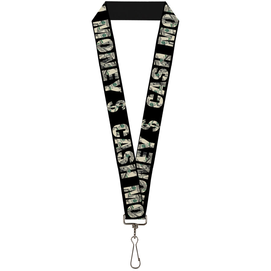 "Lanyard - 1.0"" - CASH MONEY $ Black Dollars"