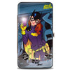 Hinged Wallet - The New 52 BATGIRL Issue #35 Bathroom Selfie Scene Cover Pose Grays Yellow