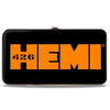Hinged Wallet - HEMI 426 Logo2 Black White Orange