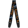 Guitar Strap - Woody REACH FOR THE SKY Denim Blue Print
