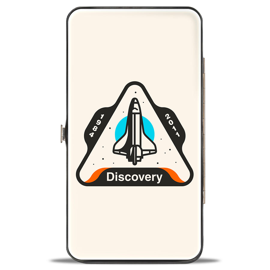 Hinged Wallet - SPACE SHUTTLE DISCOVERY 1984-2011 Space Shuttle White Gray Blue Orange