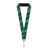 "Lanyard - 1.0"" - Slytherin Crest Stripe5 Green Gray"