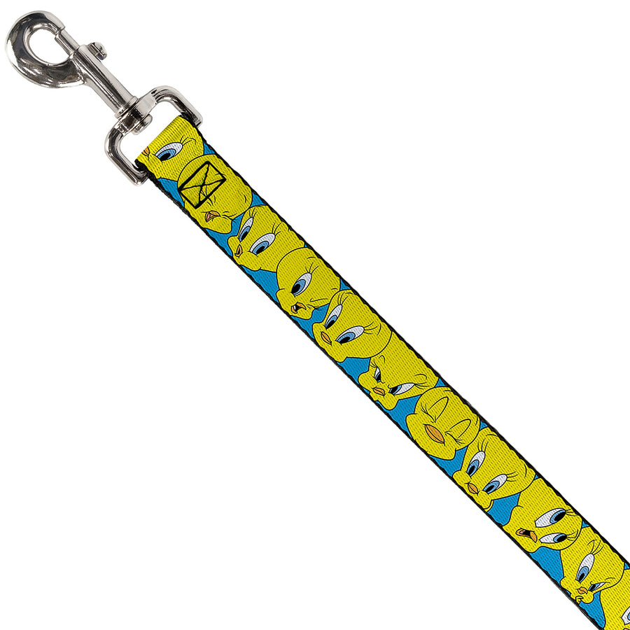 Dog Leash - Tweety Bird CLOSE-UP Expressions Baby Blue