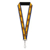 "MARVEL X-MEN Lanyard - 1.0"" - X-Men Cyclops Utility Strap Blue Gold Black Red"