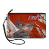 Canvas Zipper Wallet - SMALL - RED SONJA Face Sword CLOSE-UP