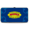 Hinged Wallet - MOPAR 1937-1947 Logo-USE CHRYSLER ENGINEERED MOPAR PARTS AND ACCESSORIES Blue Yellow Red
