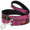 Dog Leash - Mossy Oak Country Roots Camo Fuchsia