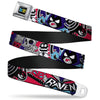 TEEN TITANS GO! Full Color Black Blue Yellow Seatbelt Belt - TEEN TITANS GO! RAVEN/Demon/Trigon Purple Webbing