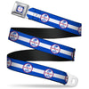 SHELBY Tiffany Split Full Color Blue Red White Seatbelt Belt - SHELBY Tiffany Split/Stripe Blue/White/Red Webbing