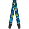 Guitar Strap - Monsters University Sulley & Mike Poses Checkers Blue
