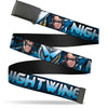 Black Buckle Web Belt - NIGHTWING Poses/Logo Black/Blues Webbing