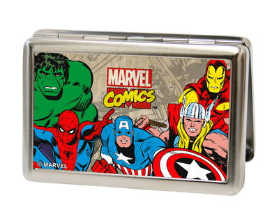 MARVEL COMICS Business Card Holder - LARGE - Marvel Comics Logo w Characters FCG