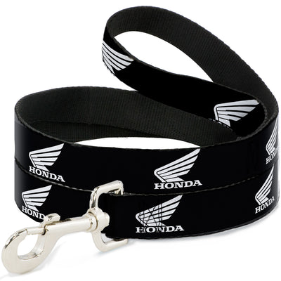 Dog Leash - HONDA Motorcycle Logo Black/White