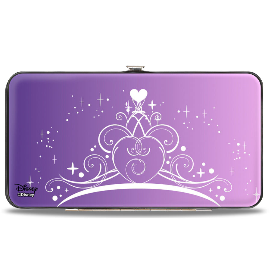 Hinged Wallet - Cinderella & Prince Ball Scene + Crown Icon Purples White